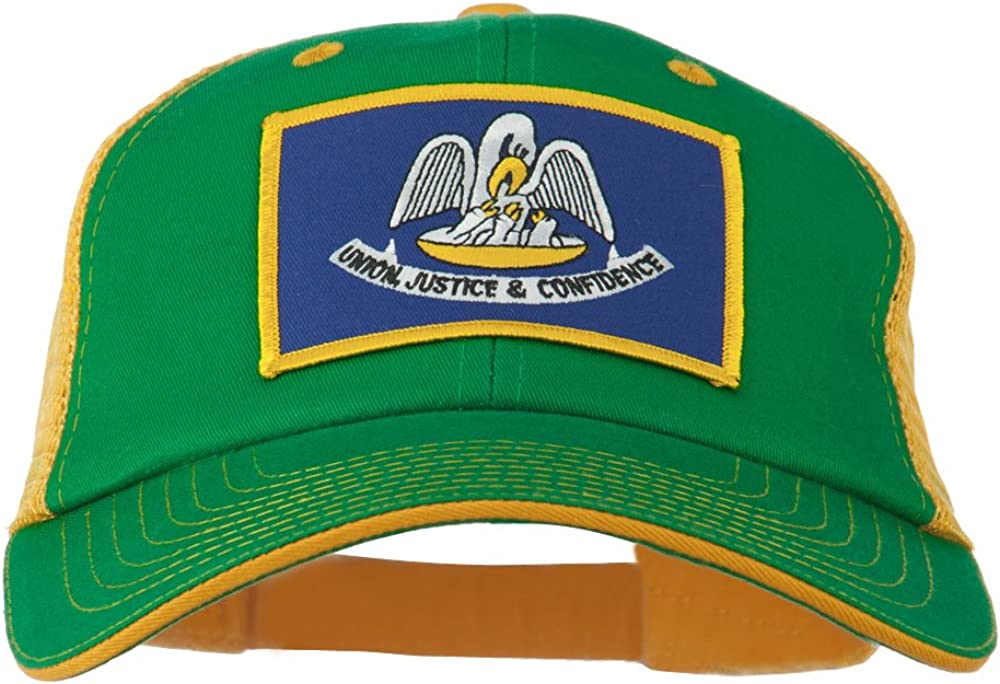 e4Hats.com Big Mesh State Louisiana Patch Cap