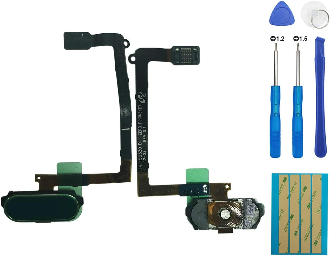 E-yiiviil Replacement Home Button Flex Cable +Key Fingerprint Sensor for Samsung Galaxy S6 G920 G920F G920A G920V G920T G920V (Blue)