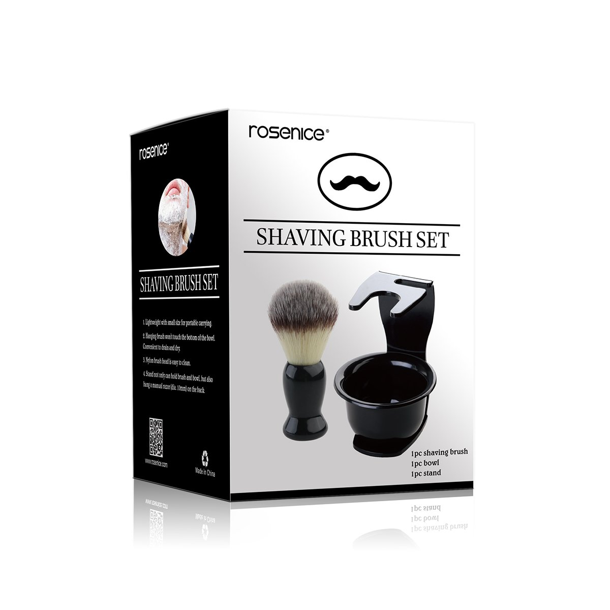 Rosenice Mens Shaving Kit Shave Brush Stand and Shaving Mug