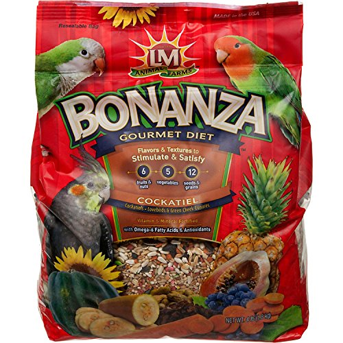 LM Animal Farms Bonanza Gourmet Diet Cockatiel and  Bird Food