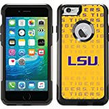 Lsu Repeating design on Black OtterBox Commuter Series Case for iPhone 6 Plus and iPhone 6s Plus