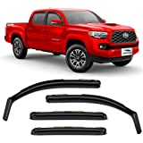 Voron Glass in-Channel Extra Durable Rain Guards for Trucks Toyota Tacoma 2016-2020 Double Cab, Window Deflectors, Vent…
