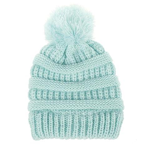 Recién nacido linda moda mantener calientes sombreros de invierno Sombrero de dobladillo de lana de punto bufanda Gorros Bebé invierno cálido ...