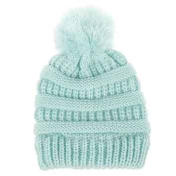 Recién nacido linda moda mantener calientes sombreros de invierno Sombrero de dobladillo de lana de punto