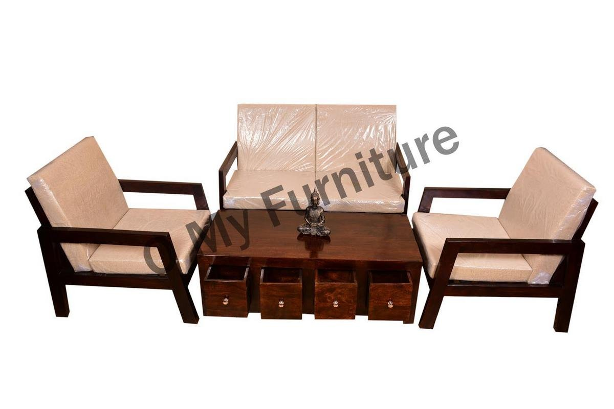 Remarkable O My Furniture Mayur 2 1 1 Wooden Sofa Set With Center Table Home Interior And Landscaping Oversignezvosmurscom