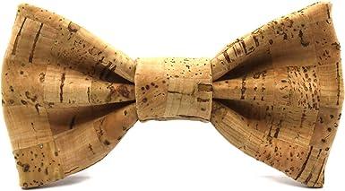 Territorial Pajarita de corcho Brick. Colección de moda hombre: Confeccionada en España Wood. Línea boda y eventos. Regalo elegante y original: Amazon.es: Ropa y accesorios