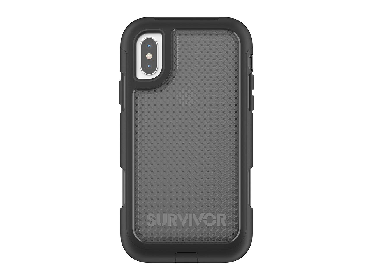check out 161b3 fa4c7 Griffin Survivor Extreme iPhone X Rugged Case - Impact Resistant Case with  Holster, Black Tint