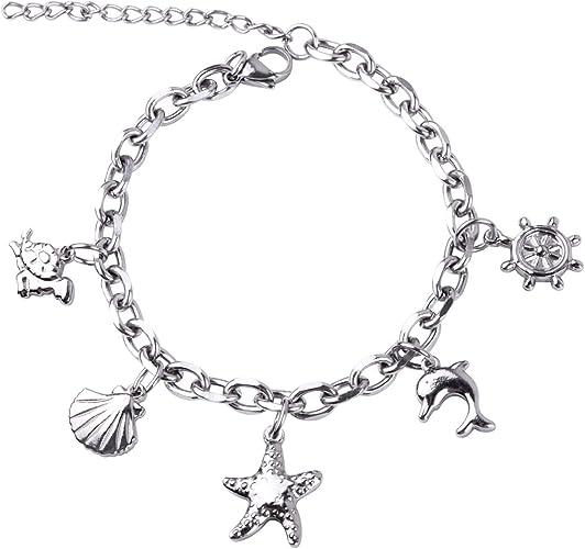 """Girls 925 Sterling Silver Turtle Bracelet Jewelry Gift 7.25/"""""""