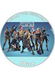 Fortnite 7 5 Round Design 5 Icing Cake Topper Any Name Age