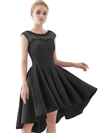 7e5929ba3f35c Image Unavailable. Image not available for. Color: YORFORMALS Cap Sleeve A-line  Homecoming Dress Short Prom Gown Size 2 Black