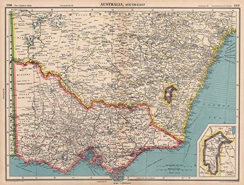 Australia Map Jervis Bay.Amazon Com South East Australia Victoria Nsw Federal Capital