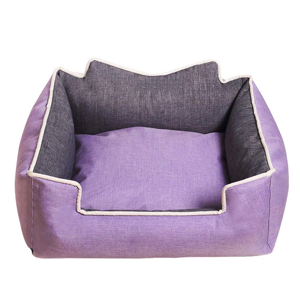 Purple XLPet Nest Kennel Cat Litter Is Suitable For Domestic Pets. It Is Soft And Comfortable To Disassemble. (color   Purple, Size   XL)