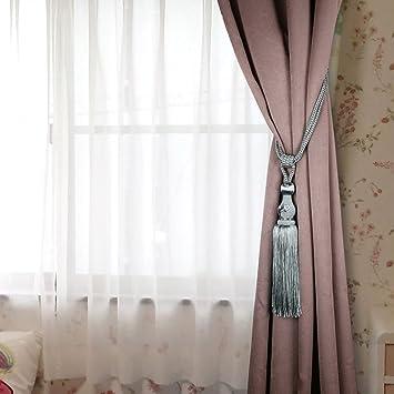 Abrazaderas BTSKY, un par de borlas, de estilo europeo, para cortinas, con