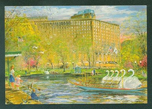 Boston Park Plaza Hotel Massachusetts Kamil Kubik Pastel Art - Stores Plaza Park