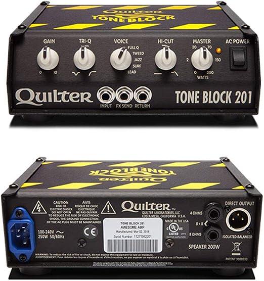 Cabezal amplificador de guitarra Quilter Labs, color negro (TB201-HEAD): Amazon.es: Instrumentos musicales