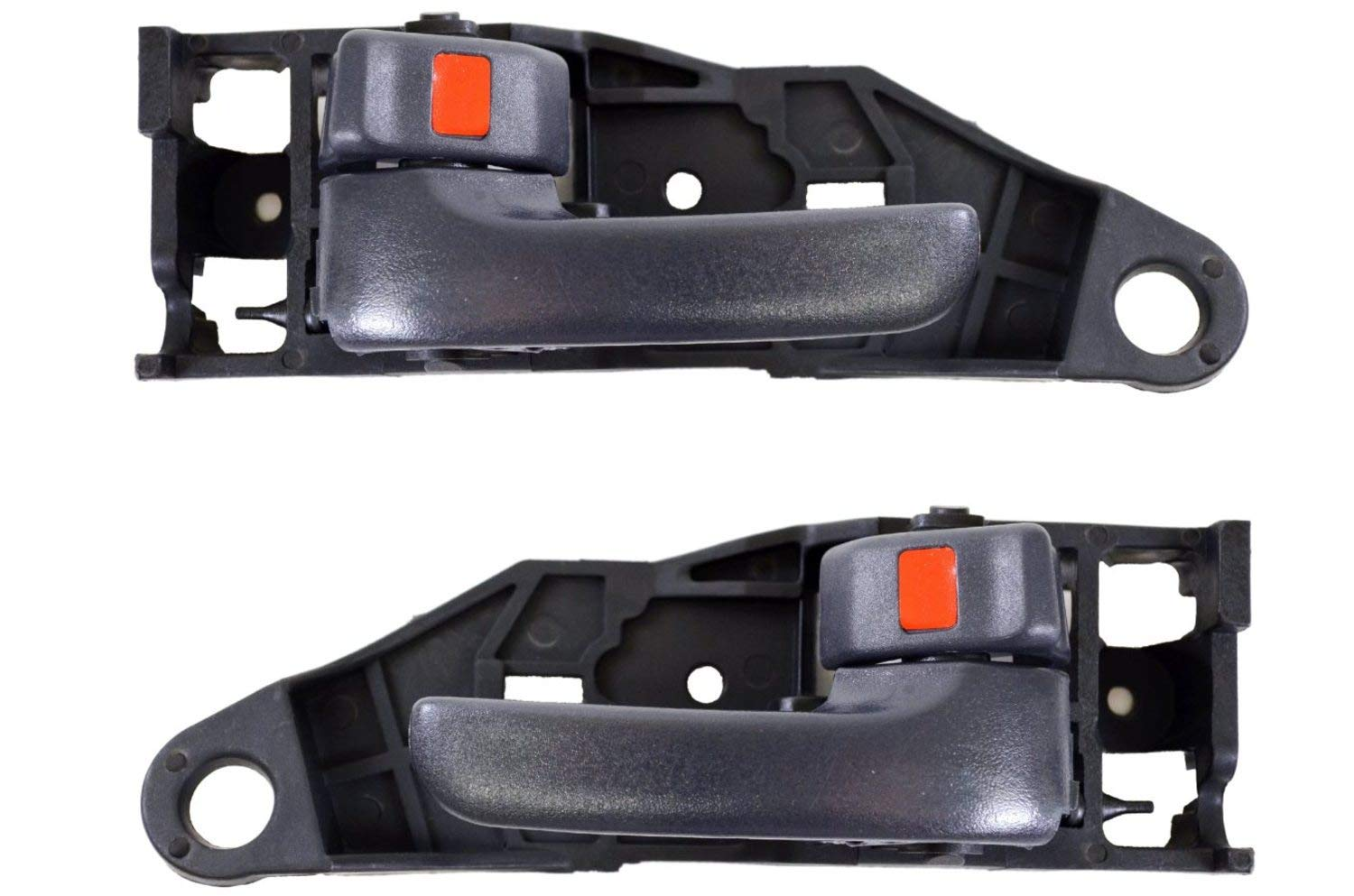 PT Auto Warehouse FO-2506MA-FR Front Right Passenger Side Chrome Lever with Black Housing with Power Door Lock Interior Inner Inside Door Handle