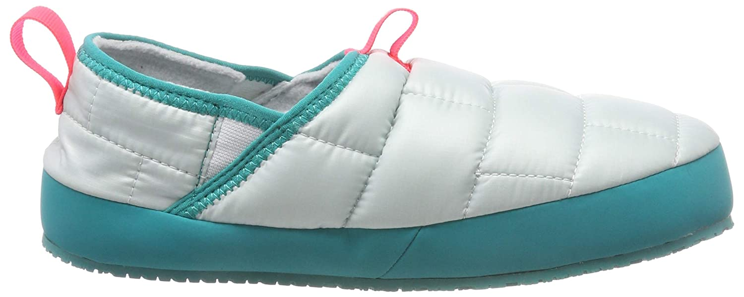 Amazon.com | The North Face Youth Thermal Tent Mule II - Shiny ICEE Blue & Kokomo Green - 10 | Shoes
