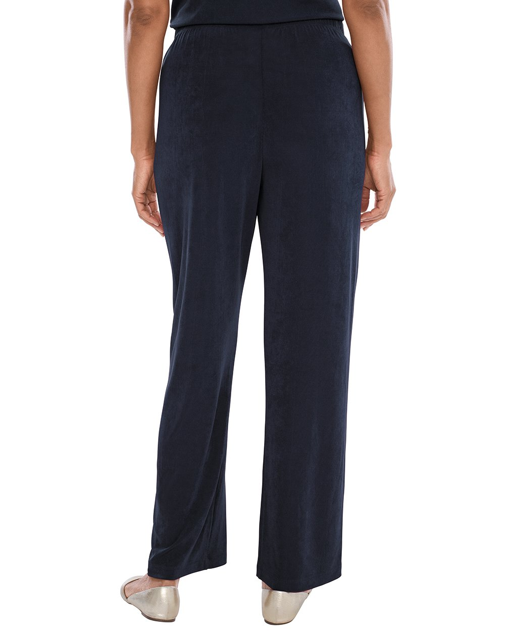 Chico's Women's Travelers Classic No Tummy Pants Size 12/14 L (2) Tall Blue by Chico's (Image #2)