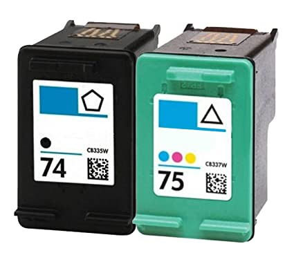Amazon.com: OCProducts Refilled HP 74 75 Ink Cartridge ...