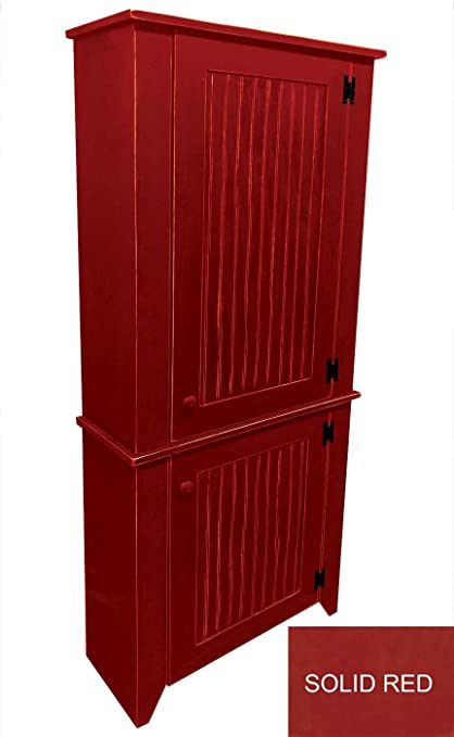 Outstanding Sawdust City Kitchen Hutch Set Solid Red Download Free Architecture Designs Jebrpmadebymaigaardcom