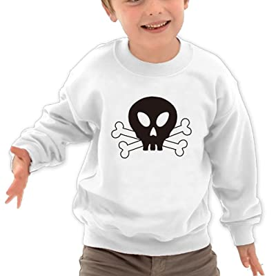 JasonMade Kids Skull Black Face White Bones Cool Crewneck Sweatershirts