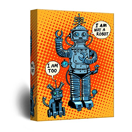 Robots Comic Book Style Pop Art Illustration