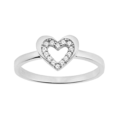 Citerna Women's 9 ct Yellow Gold Heart Ring 0uqNz
