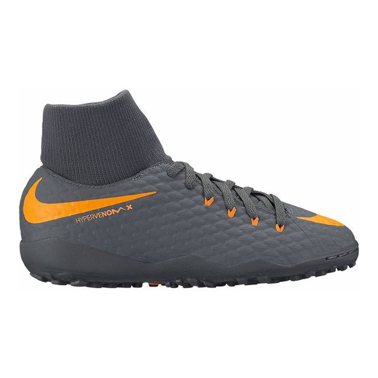 new concept 7658d 45e63 Nike Youth Hypervenom Phantomx 3 Academy DF Turf Shoes [Dark Grey] (5Y)