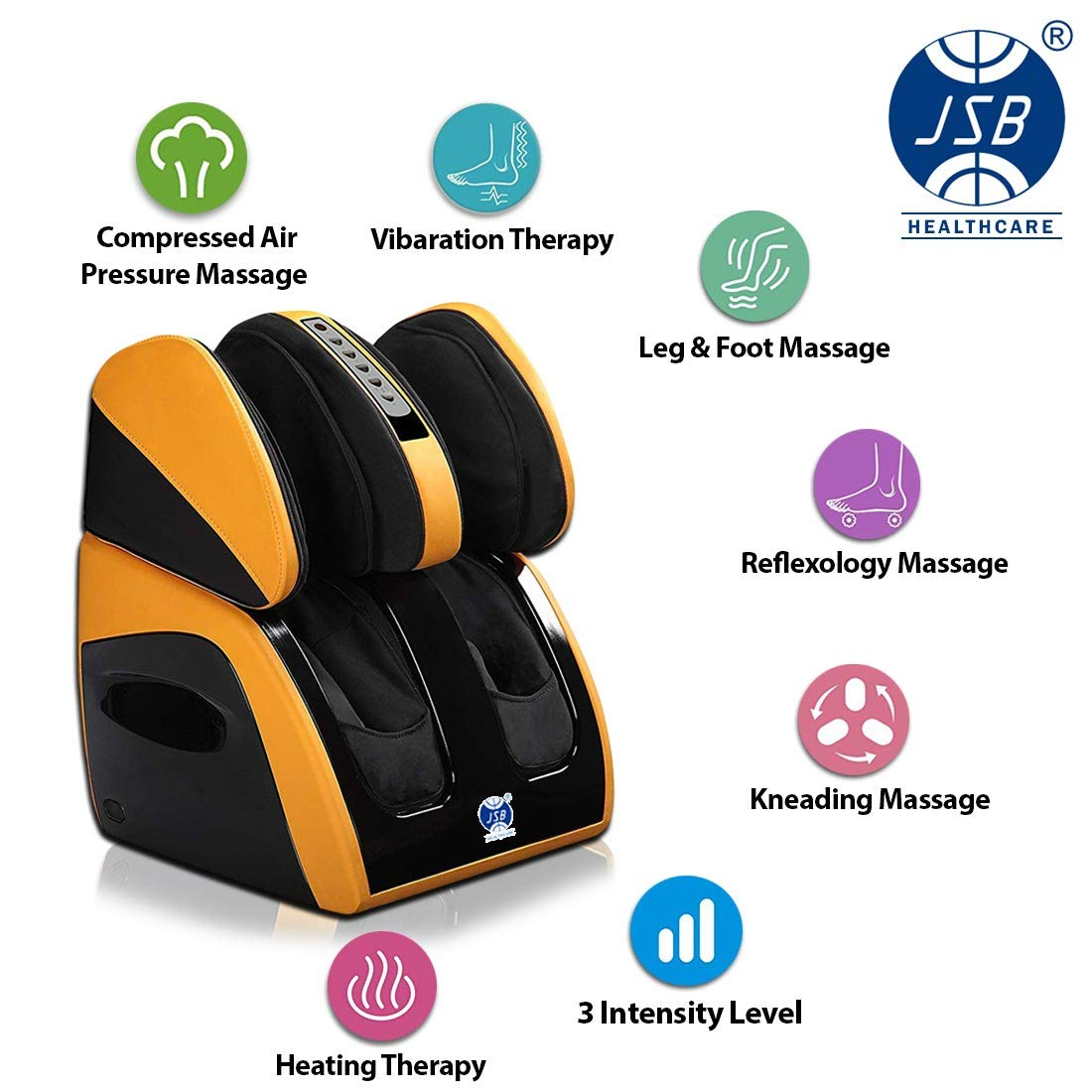 JSB HF111 Leg Foot Massager Machine for Calf Pain Relief & Knee Heating:  Amazon.in: Health & Personal Care