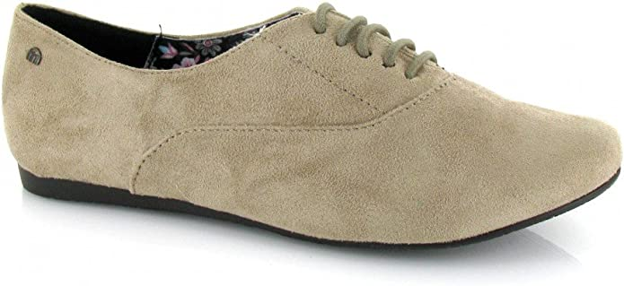 Mustang, 53012, Blucher Taupe de Mujer, Talla 39: Amazon.es ...
