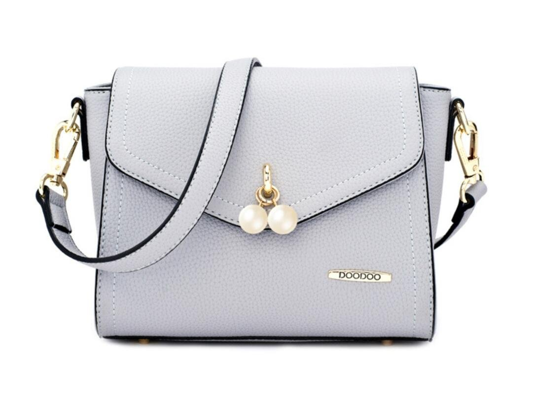 Bagtopia Women's Small Premium PU Leather Cross-body Shoulder Bag Cute Pearl Satchel Purse for Girls