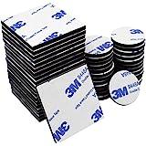 Doppelseitig Schwarz Schaumstoff-Pads, 50PCS doppelt selbstklebend Schaumstoff Pads starke Montage-Klebeband, quadratisch und rund