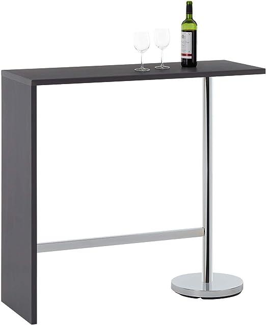 Mesa alta de bar Ricardo para comer de pie con patas de metal ...