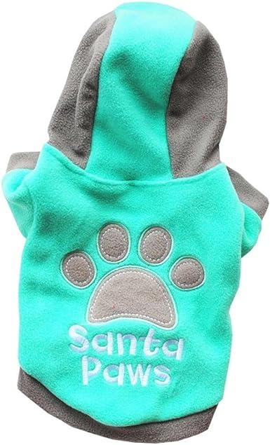 Imagen deRETUROM Ropa para Mascotas de Navidad, 2018 Encantadora Ropa de Invierno cálido cómodo para Mascotas Gato Perro