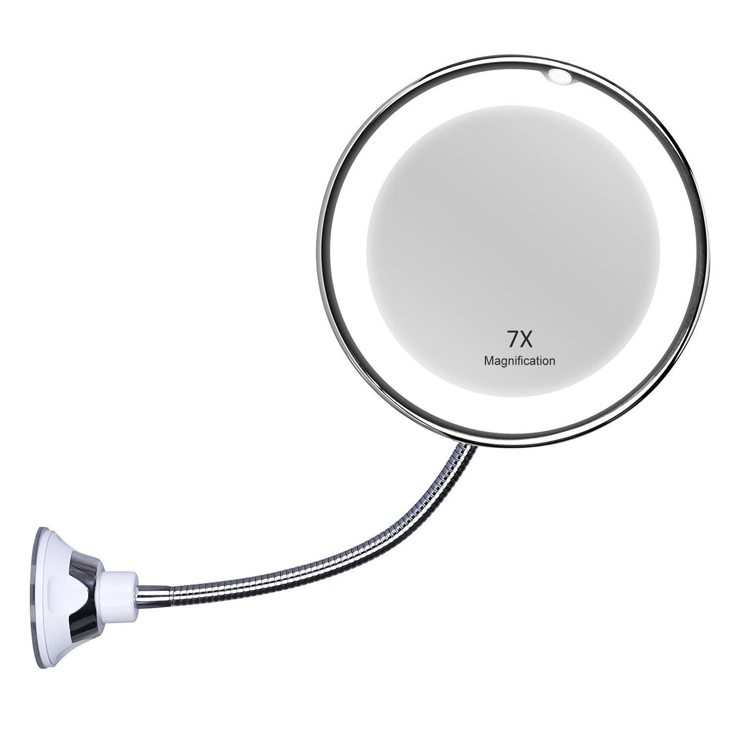 INCOK EM-0002 Mirror, 7X Magnification, This is This is White With A Beautiful Chrome Extension Arm.