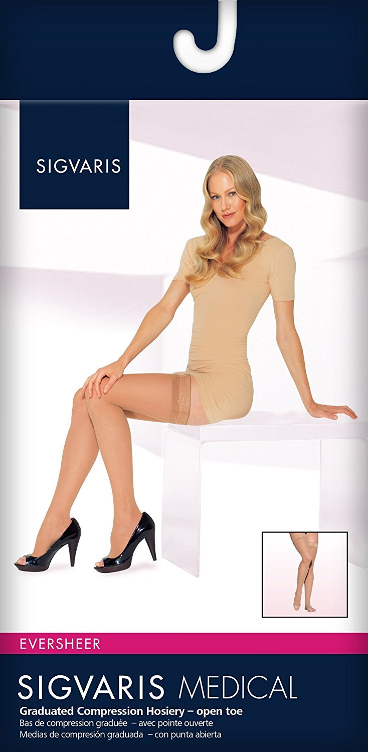 SIGVARIS Women's EVERSHEER 780 Open Toe Thigh High w/Grip-Top 30-40mmHg by SIGVARIS (Image #3)