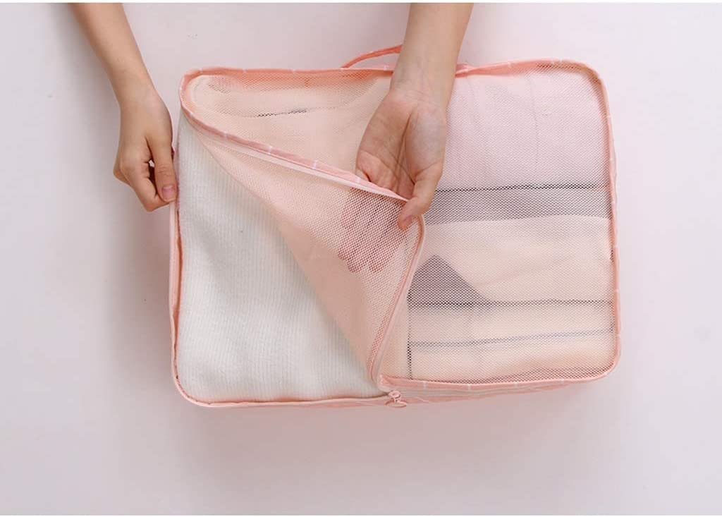 Color : Pink Fenfen-snb Packing Cubes Travel Organizers Luggage Compression Pouches-3 Sets Travel Accessories