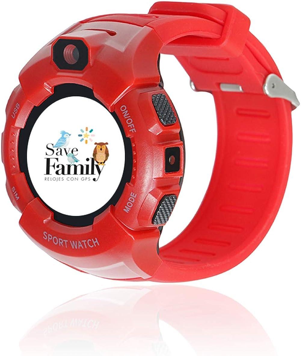 Reloj con GPS para niños Save Family Modelo Kids Sport. Smartwatch con botón SOS, Permite Llamadas y Mensajes. Incluye Cargador