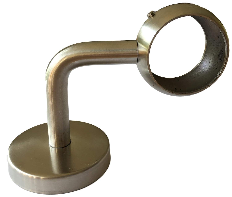 Handlauf Halter f/ür Gel/änder Rohre /& Holz Handlauf 1 oder 2 St/ück 2 geschlossene Variante- Edelstahl Handlaufhalterung 42.4mm System