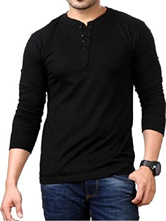 5b3edf4856f3 Style Shell Men's Cotton Long Sleeve Top (Vnk): Amazon.in: Clothing ...