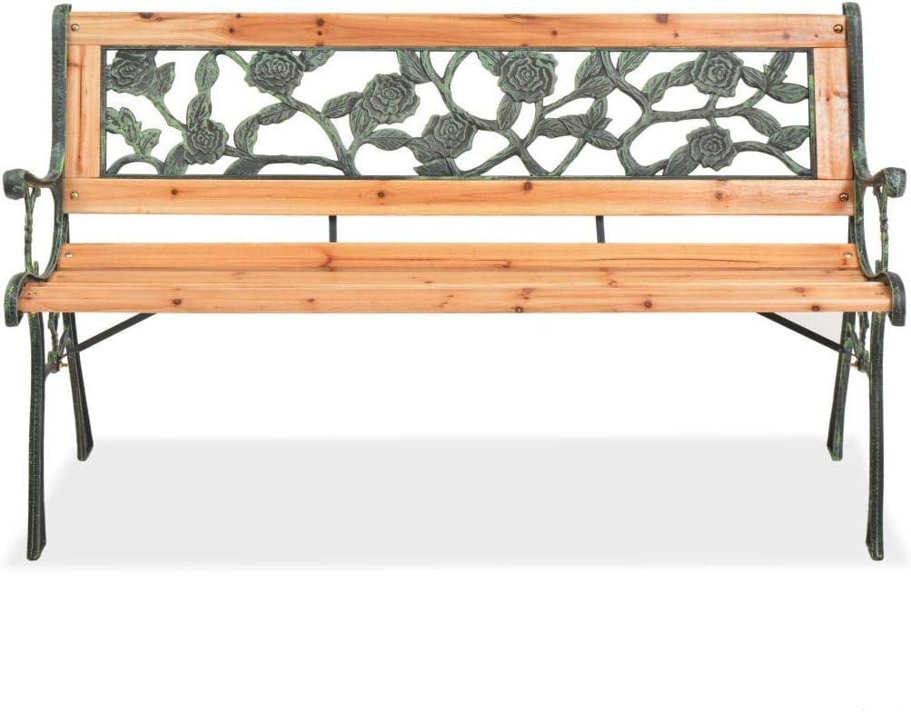 Festnight Panche da Giardino in Legno Panchina da Esterni 122 cm Panchina da Giardino