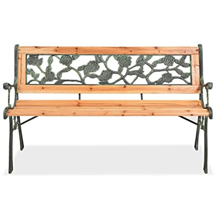 Superb Amazon Com Tidyard 2 Persons Garden Bench With Rose Gmtry Best Dining Table And Chair Ideas Images Gmtryco