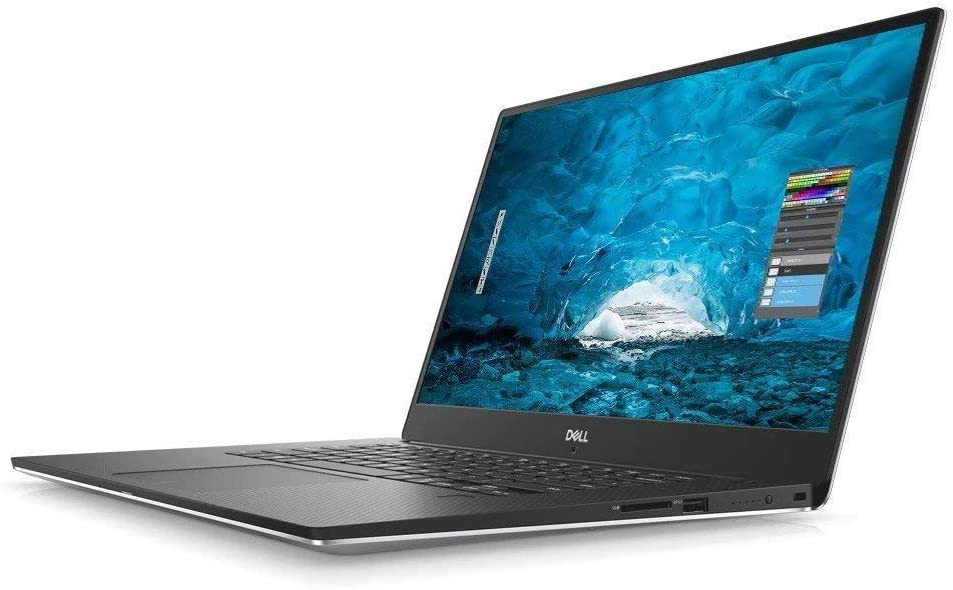 "Dell XPS 9570 Laptop, 15.6"" UHD (3840 x 2160) InfinityEdge Touch Display, 8th Gen Intel Core i7-8750H, 16GB RAM, 512GB SSD, GeForce GTX 1050Ti, Fingerprint Reader, Windows 10 Pro, Silver"