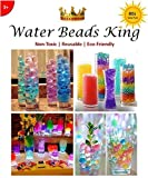 Water Beads King Water Beads, Set of 8 Colors, 8 Oz, ~25000-30000, Good Quality, Jelly Water Growing Balls for Kids, Tactile Sensory Toys, Orbeeze, Vases, Plants, Wedding, Party, Home Decorations 3+Yr