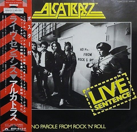 Alcatrazz Live Sentence - No Parole From Rock 'N' Roll Rare 1984 Japan Import with OBI