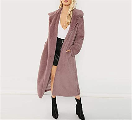 amazon street price clear-cut texture Amazon.com: Open Front Faux Fur Teddy Coat Autumn Winter ...