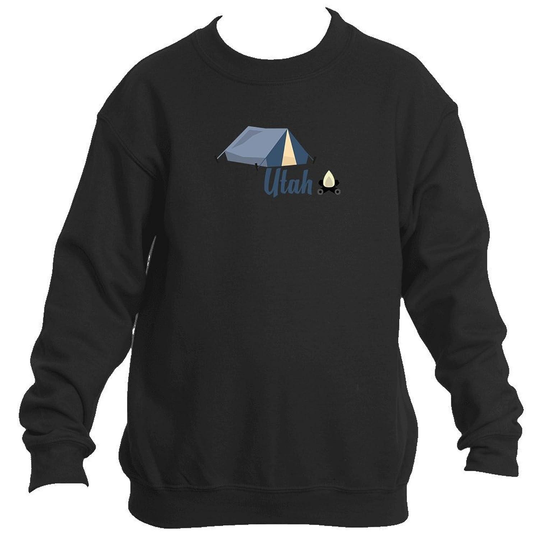 Top Camping & Camp Fire - Utah Youth Fleece Crew Sweatshirt - Unisex hot sale