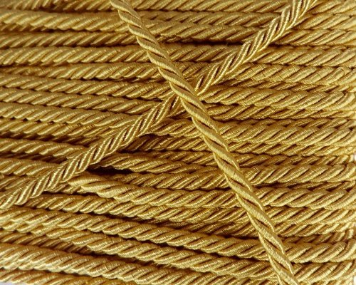 ArRord Gold Shiny Twist Cord Choker Thread Twine String Rope Piping Supplies Chain 3 - Shiny Gold