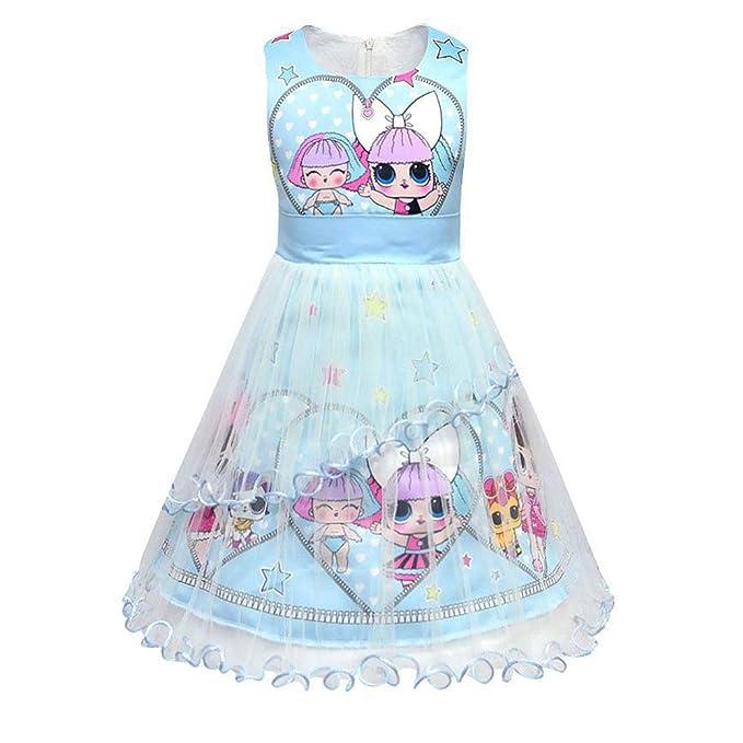 Amazon.com: Vestido sorpresa para niña, princesa, verano ...