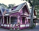 Photo: Quaint Carpenter Gothic House,Oak Bluffs,Martha's Vineyard,Massachusetts,MA